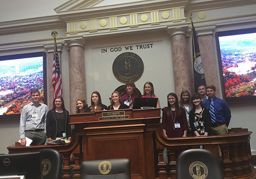 Kentucky Electric Cooperative Students Visit Frankfort
