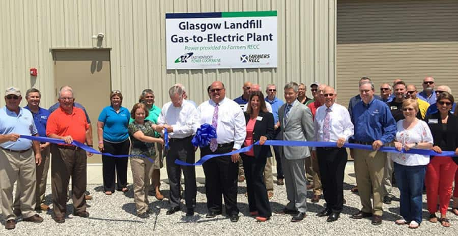 Farmers RECC, EKPC, City Of Glasgow Dedicated Newest Landfill Gas-To-Electric Plant