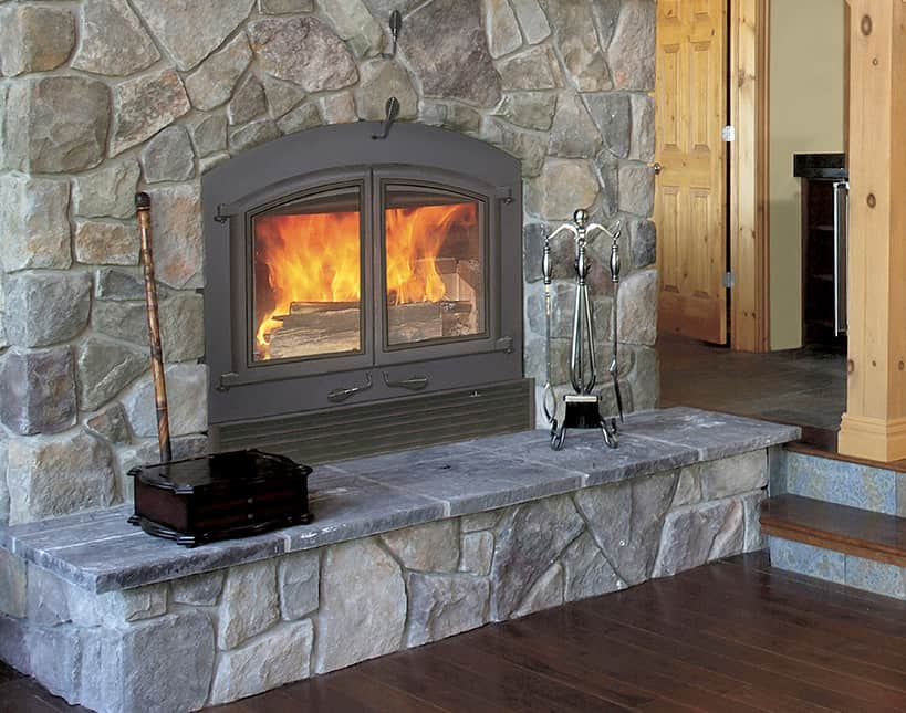 How to prevent heat from going up the chimney