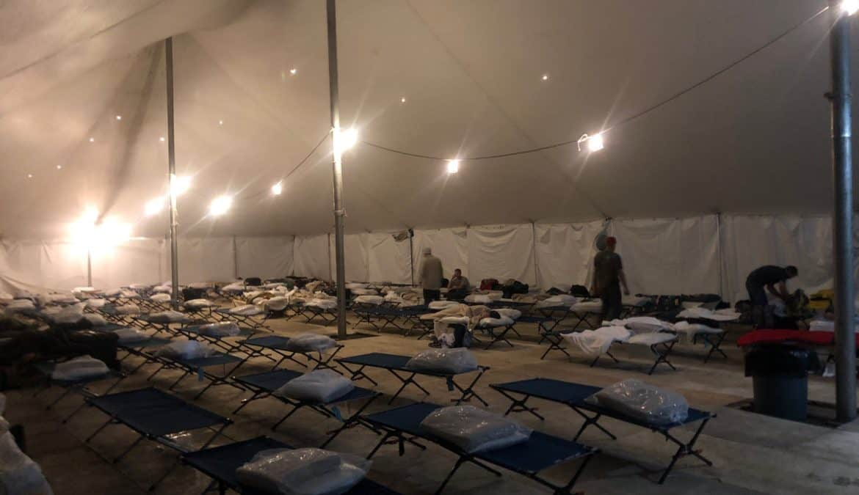 Kentucky crews call 'Tent City' home in Louisiana