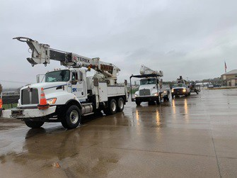 Crews from six Kentucky co-ops assisting in Georgia after Zeta